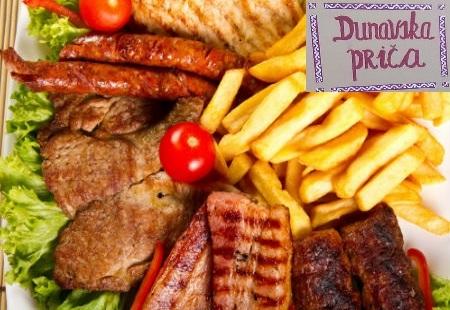 Samo 520 din MEŠANO MESO (ćevapi, belo meso, kobasica i bela vešalica) + pomfrit za 2 osobe, Dunavska priča u Zemunu!